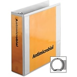 Cardinal Antimicrobial ClearVue Binder with Locking Round Rings, Letter, 8.50 x 11, 625 Sheet, 3