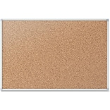 Mead® Economy Cork Board with Aluminum Frame, 36 x 24Silver Aluminum (S733)