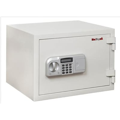 Fire King® Fireproof Electronic Safes; 1 Hour, 0.97 Cu. Ft., 19-2/3H x 13-3/4W x 16-3/4D, White