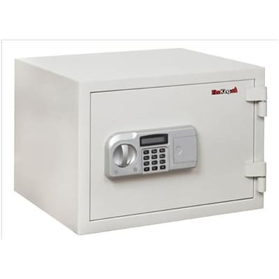 Fire King® Fireproof Electronic Safes; 1-Hour, 0.53 Cu. Ft., 11-3/4Hx16-1/2Wx14D, White