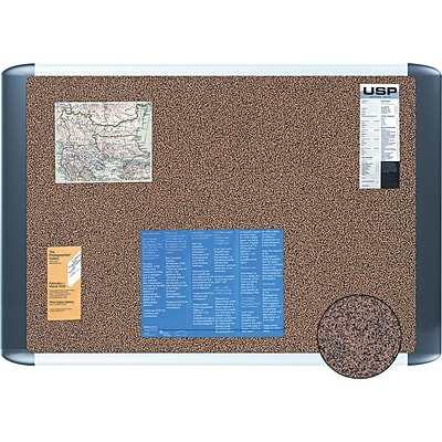 Mastervision® Tech Cork Board, 36X48, Silver and Black Frame