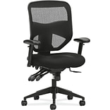 basyx by HON® VL532 Mesh High-Back Chair, Black Mesh Back, Black Sandwich Mesh Seat