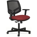 HDOD HON Volt® Mid-Back Task Chair with Arms, Mesh Back with Fabric Seat, Crimson