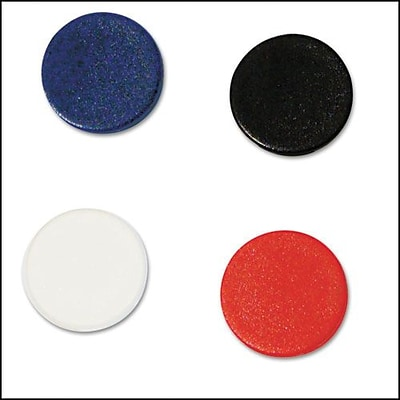 MasterVision Interchangeable Circle Magnets, Assorted Colors, 3/4 Dia, 10/Pack