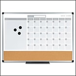 MasterVision® 3-in-1 Calendar Planner Dry Erase Board, 24 x 18, Aluminum Frame