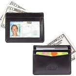Big Skinny Leather Hybrid Open-Sided Mini Skinny Card Case in Tuxedo Black