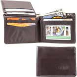 Big Skinny Leather Hybrid L-Fold Wallet in Chocolate Brown