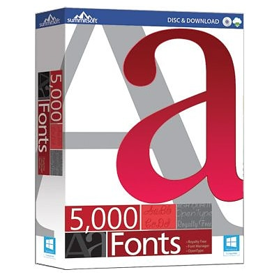 Summitosft 5000 Fonts for Windows (1 User) [Download]