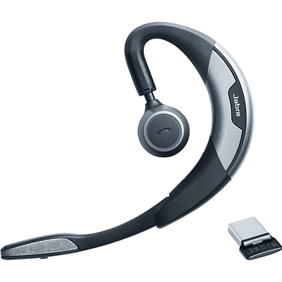 Jabra® Motion™ UC+ Monaural Behind-The-Ear Bluetooth Headset, Black/Gray