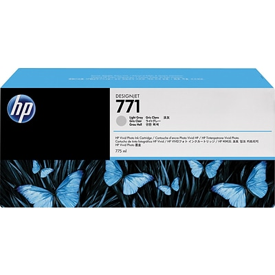 HP Ink Cartridge, 771A (B6Y46A), Light Gray, 3/Pack