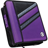 Case•it Z-176  1 1/2 Purple 2-in-1 Zipper Binder