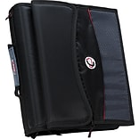 Case•it D-901 2 Black Zipper Binder with Removable Expanding File