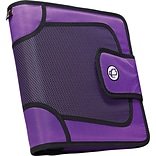 Case•it S-816 2 Purple Binder with Built-in Expandable File