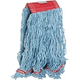 Rubbermaid® Web Foot® Wet Blend Mop, Large, Blue, 5 Headband, 6/Ct