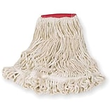 Rubbermaid® Super Stitch® Blend Mop, Large, White, 5 Headband, 6/Ct