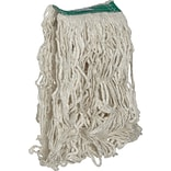 Rubbermaid® Super Stitch® Cotton Looped End Wet Mop, Medium, White, 1 Headband, 6/Ct