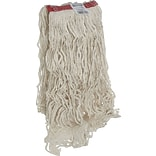 Rubbermaid® Super Stitch® Cotton Looped End Wet Mop, Large, White, 1 Headband, 6/Ct