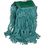 Rubbermaid® Super Stitch® Blend Mop, Medium, Green, 5 Headband, 6/Ct