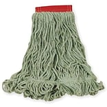 Rubbermaid® Super Stitch® Blend Mop, Large, Green, 5 Headband, 6/Ct