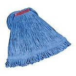 Rubbermaid® Super Stitch® Blend Mop, Large, Blue, 1 Headband, 6/Ct