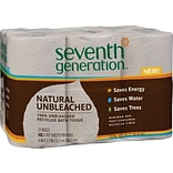 Seventh Generation™ Natural Unbleached 100% Recycled Bathroom Tissue Rolls, 2-Ply, 400 Sheets/Mega R