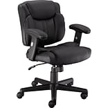 Quill Brand® Telford II Luxura Managers Chair, Black