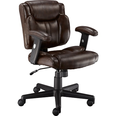 Quill Brand 174 Telford Ii Luxura Managers Chair Brown