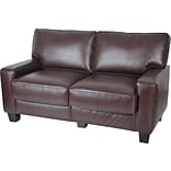 Serta 60 Brown Leather Sofa