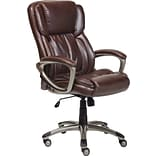 Serta Executive Office Chair, Supple Bonded Leather, Biscuit Brown