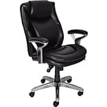 Serta AIR™ Health and Wellness Mid-Back Office Chair, Leather, Black, Seat: 21W x 17 3/4D, Back: 20 3/4 x 26H