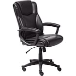 Serta Executive Office Chair, Supple Bonded Leather, Black