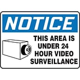 Accuform Signs® 7 x 10 Plastic Safety Sign NOTICE THIS AREA IS..W/GRAPHIC, Blue/Black On White