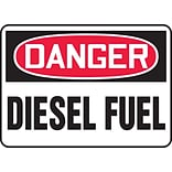 Accuform Signs® 7 x 10 Adhesive Vinyl Safety Sign DANGER DIESEL FUEL, Red/Black On White
