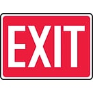 Accuform Signs® 10 x 14 Aluminum Safety Sign EXIT, White On Red