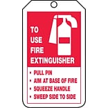 Accuform Signs® 5 3/4 x 3 1/4 PF-Cardstock Fire Inspection Tag TO FIRE.., Red On White