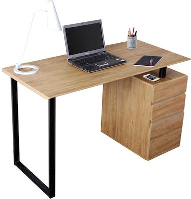 Techni Mobili Computer Desk With Storage And File Cabinet Pine Quill Com