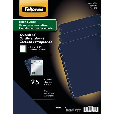 Fellowes® Oversized Presentation Binding Covers, Navy