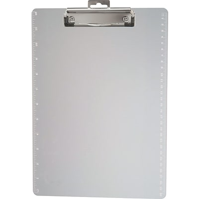 Officemate® 1/2 Capacity Plastic Clipboard; Clear