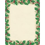 Great Papers® Holiday Stationery Dancing Holly, 80/Count