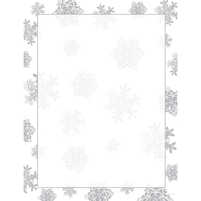 Great Papers® Holiday Stationery Icy Flakes  , 40/Count