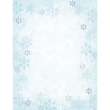 Great Papers® Holiday Stationery Blue Flakes, 80/Count