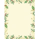 Great Papers® Holiday Stationery Holly Branches  , 80/Count