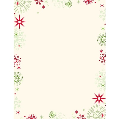 Great Papers® Holiday Stationery Red And Green Flakes  , 80/Count