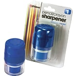 Officemate® Handheld Pencil And Crayon Sharpener With Cap, Blue