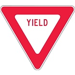 Accuform Signs® 24 x 24 Engineer Grade Reflective Aluminum Yield Sign YIELD, Red On White