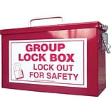 Accuform Signs® Steel Portable Group Lock Box, Red