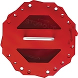 Accuform Signs® STOPOUT® Look n Stop Plastic Compact Group Lock Box, Red