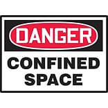 Accuform Signs® 3 1/2 x 5 Adhesive Vinyl Safety Label DANGER CONFI.., Red/Black On White, 5/Pack