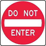 Accuform Signs® 30 x 30 Prismatic Aluminum Lane Guidance Sign DO NOT ENTER, Red On White