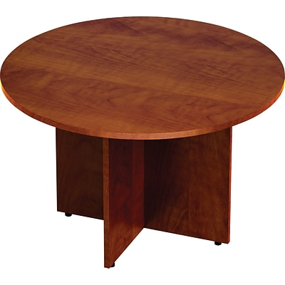 GIS Offices to Go™ Superior Laminate Round Conference Table, American Dark Cherry, 29 1/2H x 48 Diameter (TDSL48RADC)